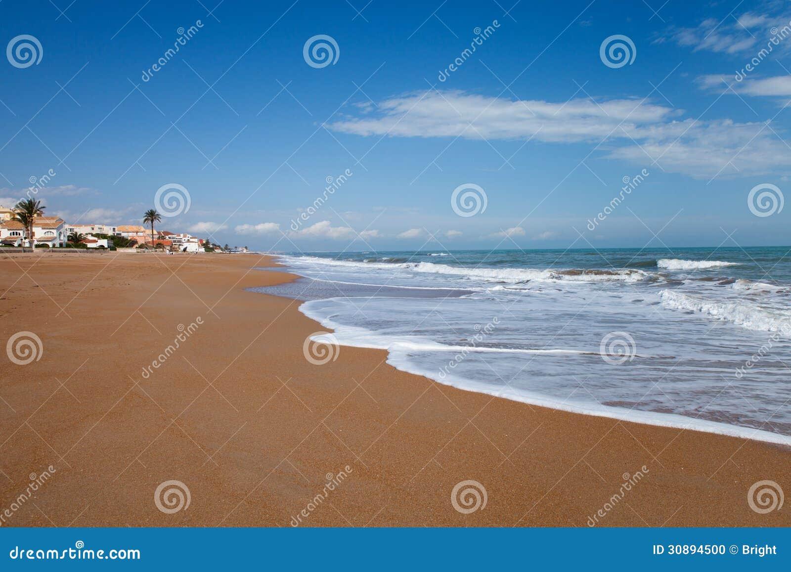 denia beach stock photo image of mediterranean water 30894500