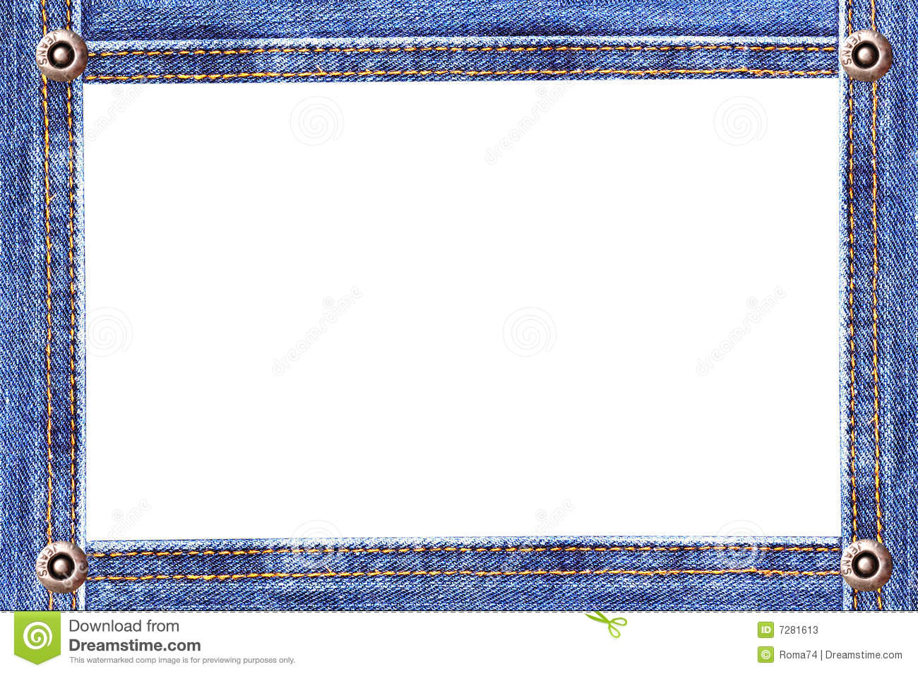 Denim Frame Stock Photos Image 7281613