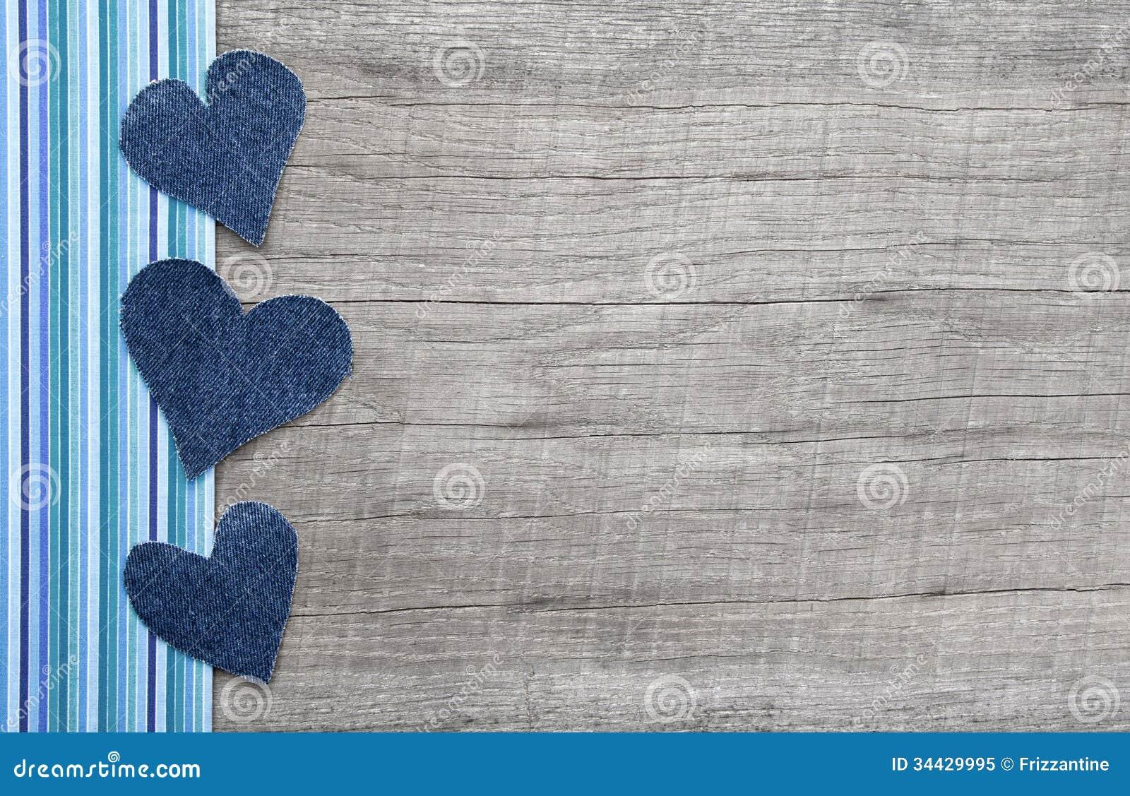 I Love You Heart Wallpaper 3d Denim Hearts On Grey S...