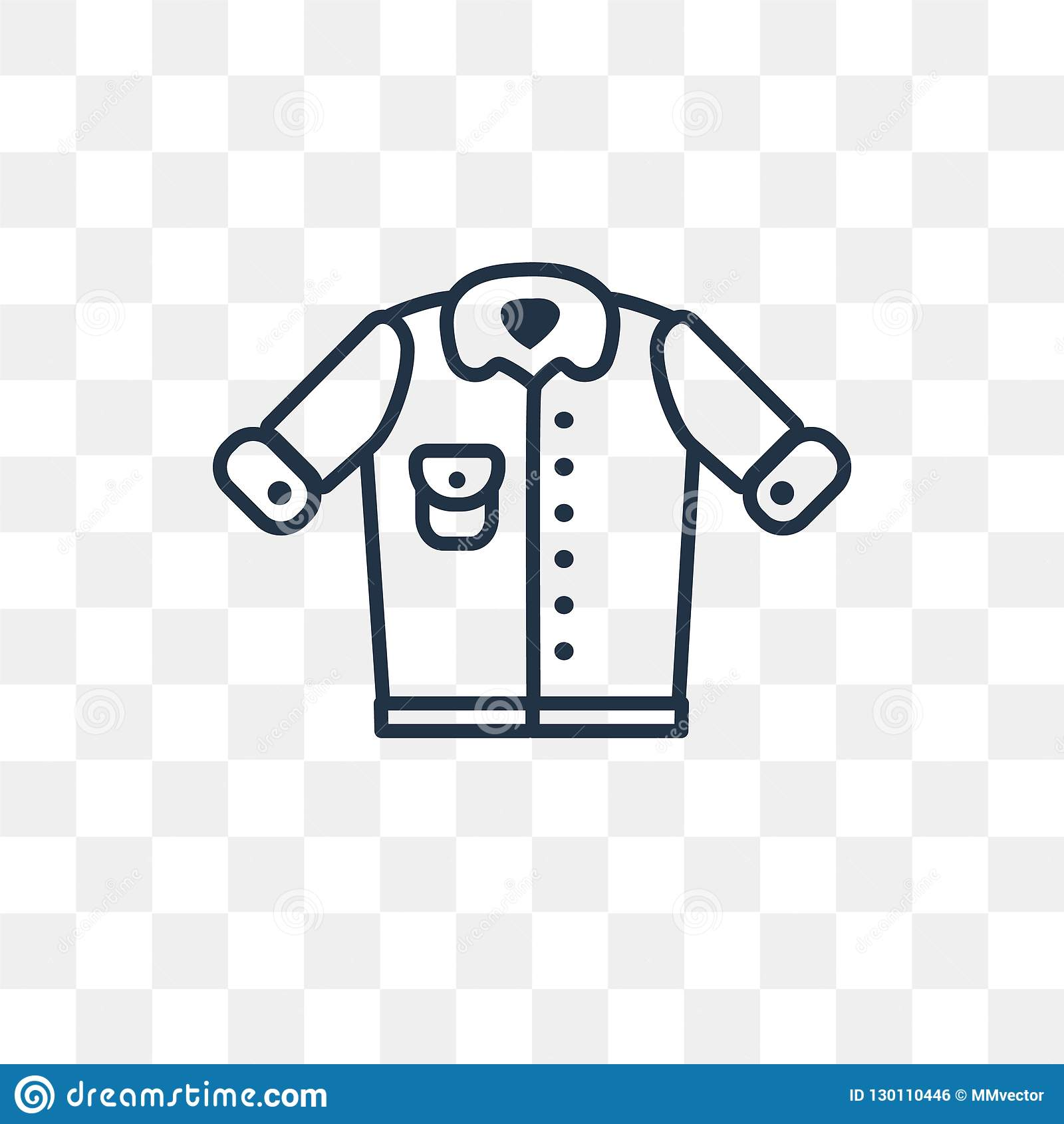 Denim Jacket Vector Icon Isolated On Transparent Background Lin Stock Vector Illustration Of Clothing Doodle 130110446