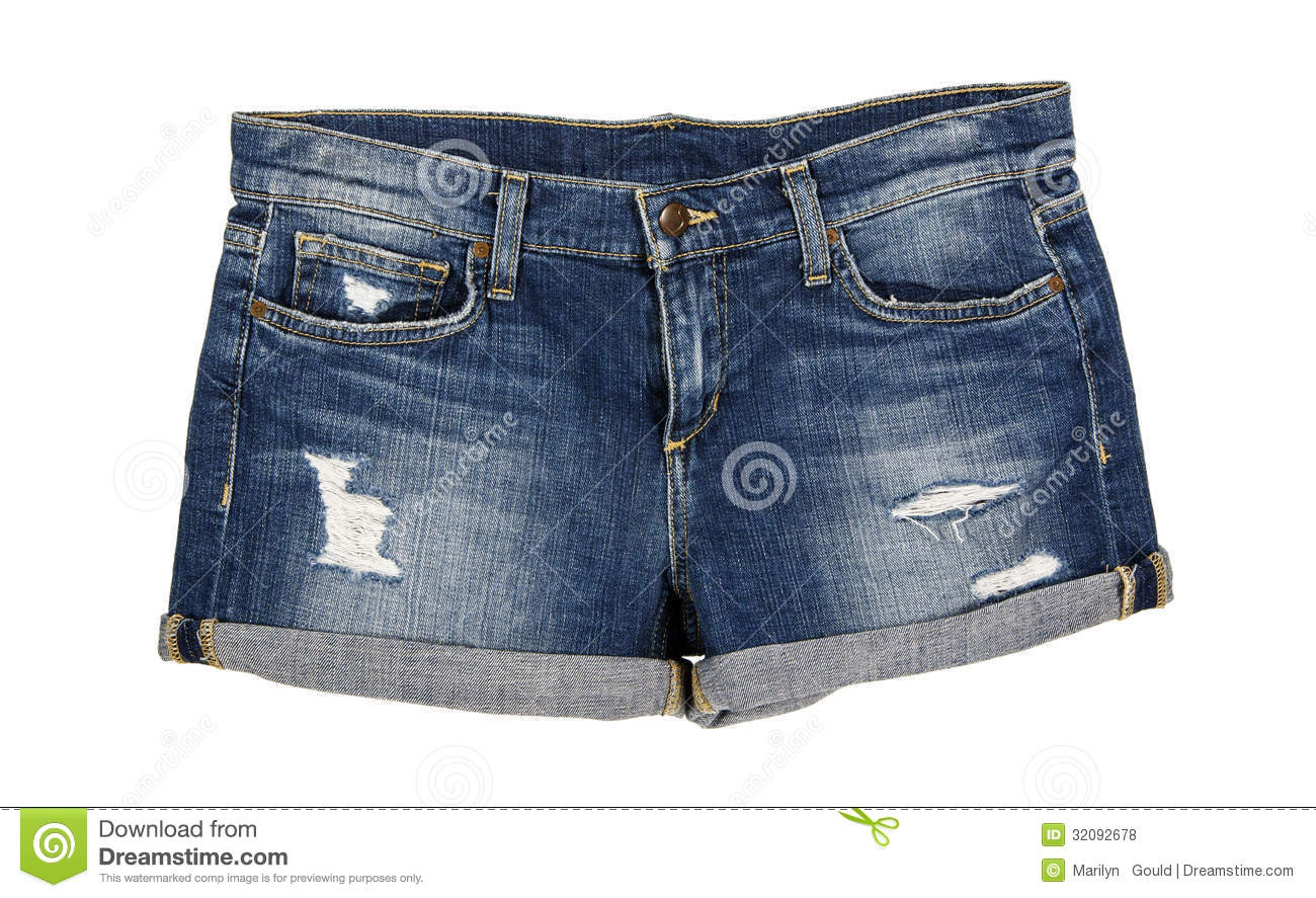 Denim Jean Shorts Front Royalty Free Stock Photos - Image: 32092678