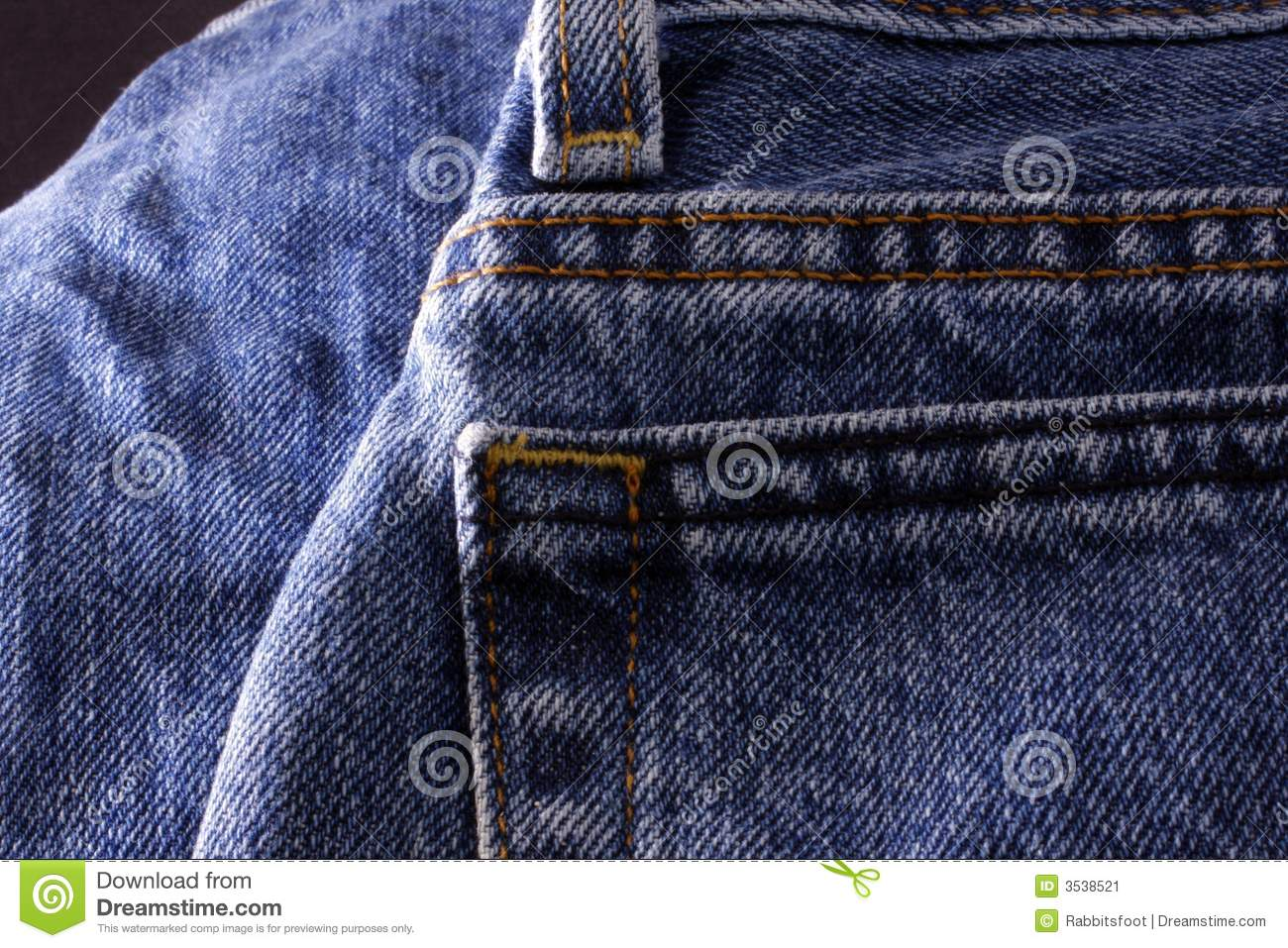 Denim Jeans Back Pocket stock image. Image of blue levis - 3538521