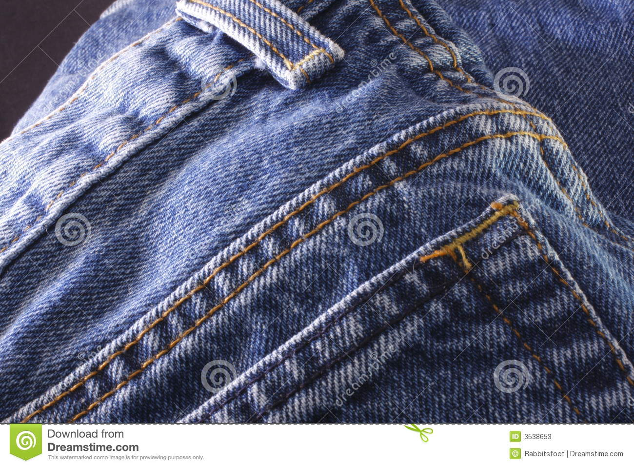 Denim Jeans Back Pocket stock image. Image of back pocket - 3538653