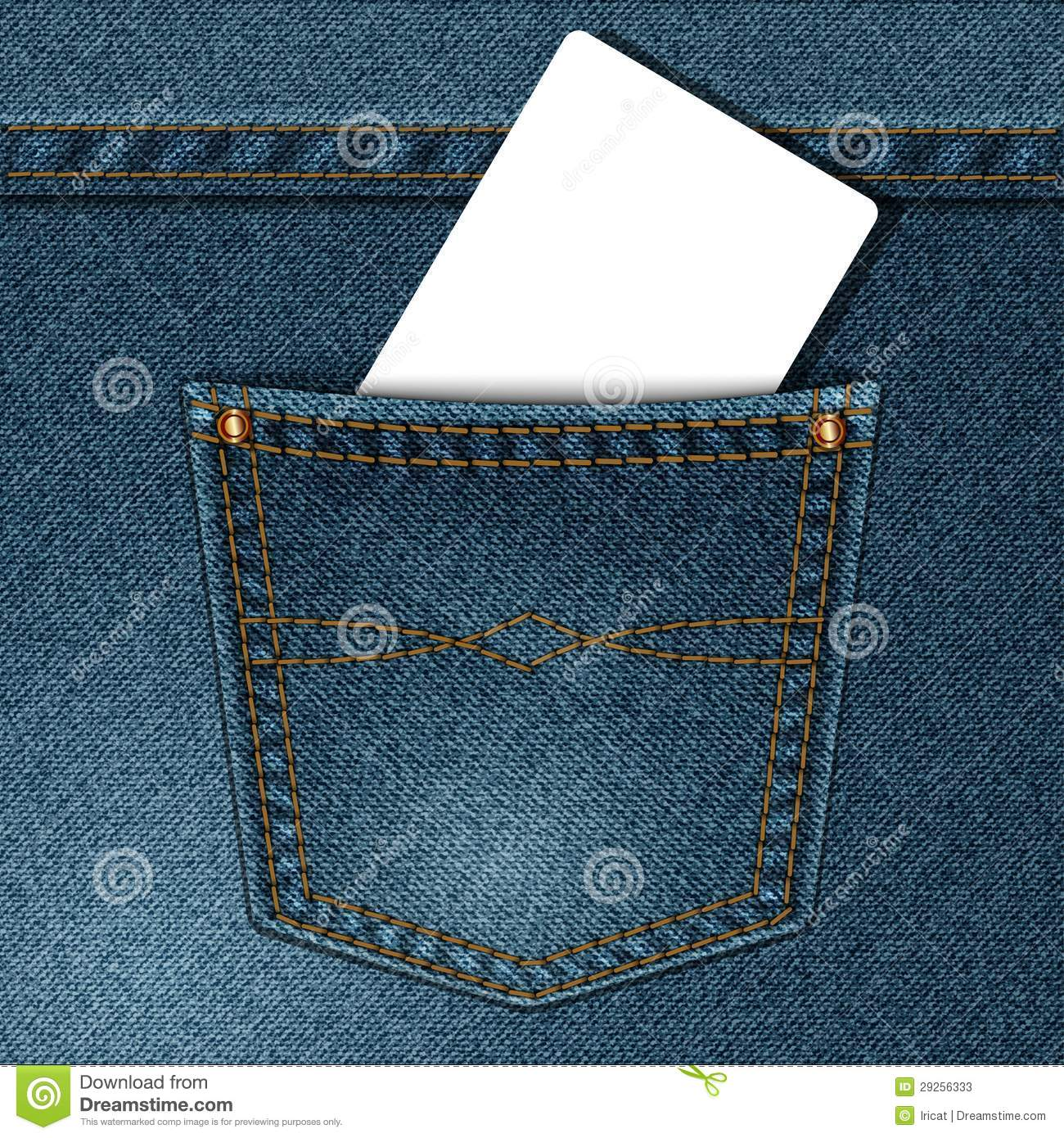 Denim Pocket Stock Photos Image 29256333