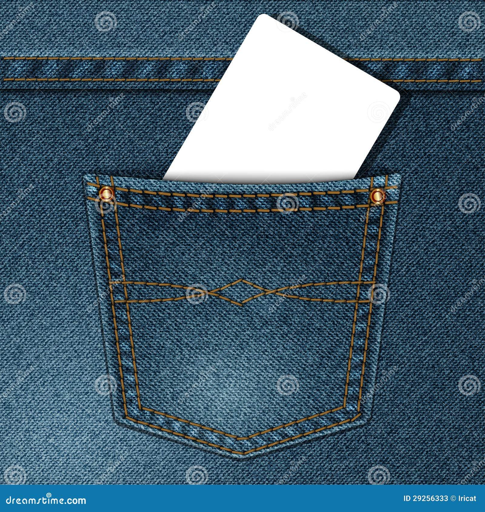 denim pocket stock vector illustration of grunge card 29256333