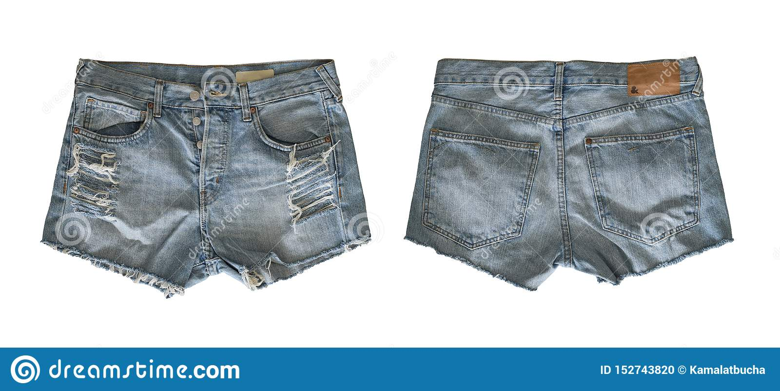 Denim shorts for female
