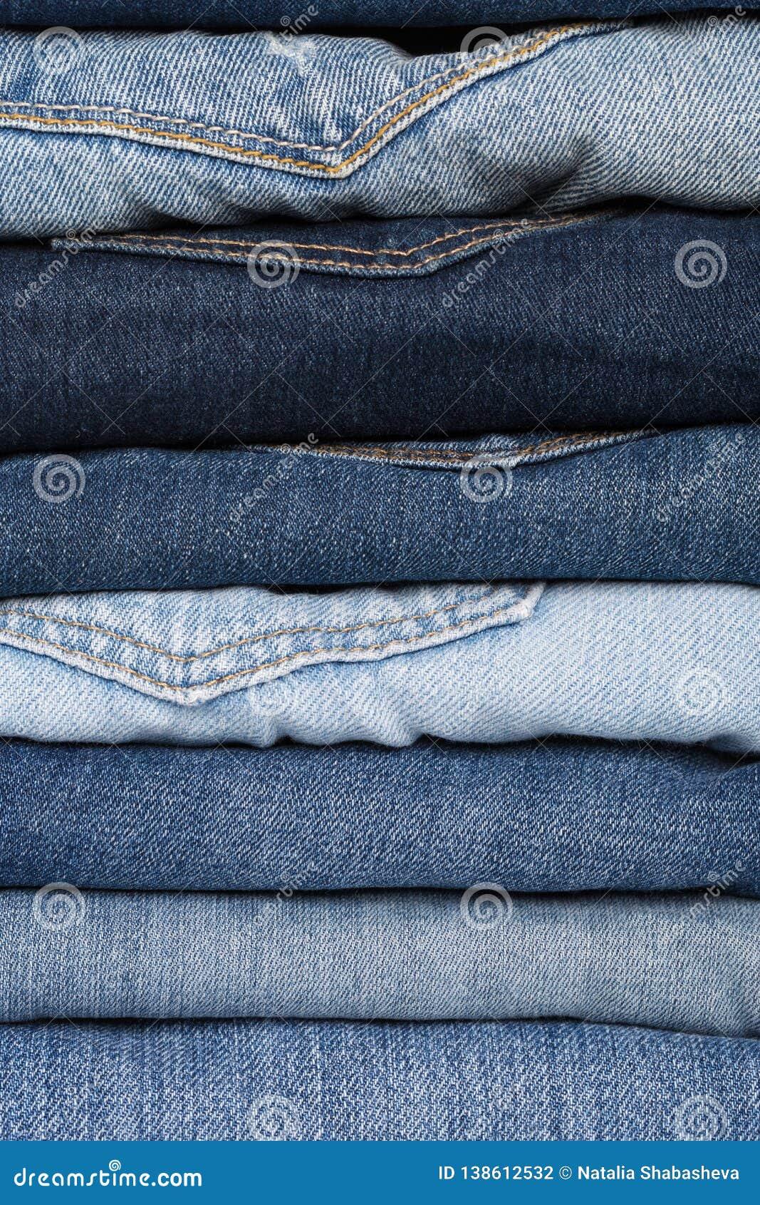 Denim Textura de los pantalones vaqueros Fondo de los pantalones vaqueros