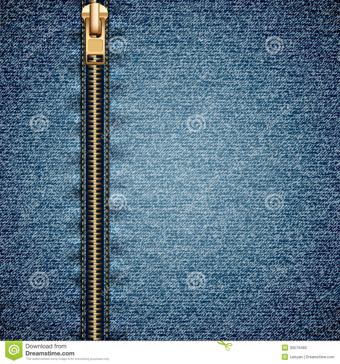denim with zipper stock illustration  image of abstract