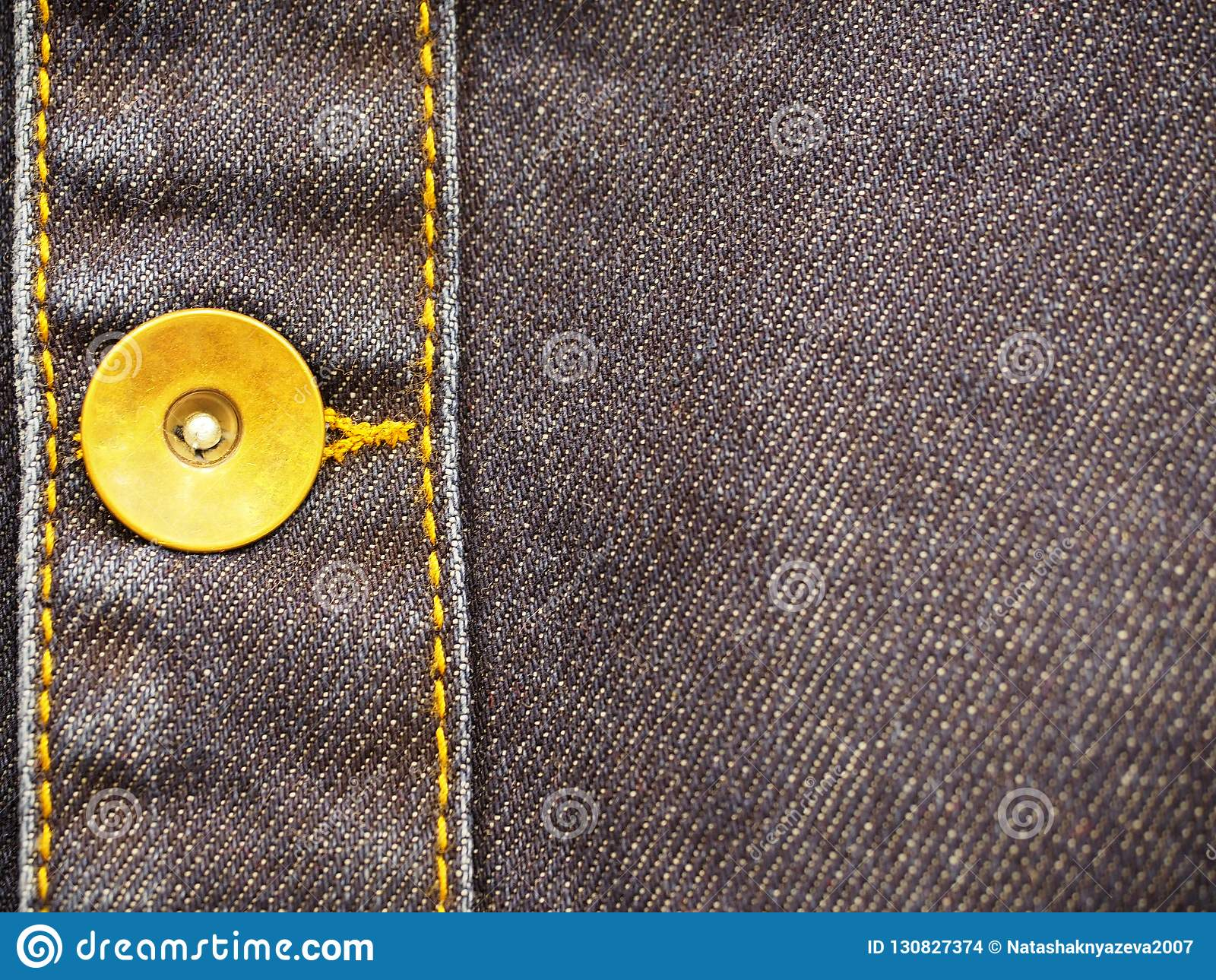 Denimpunt met knoopclose-up, als achtergrond