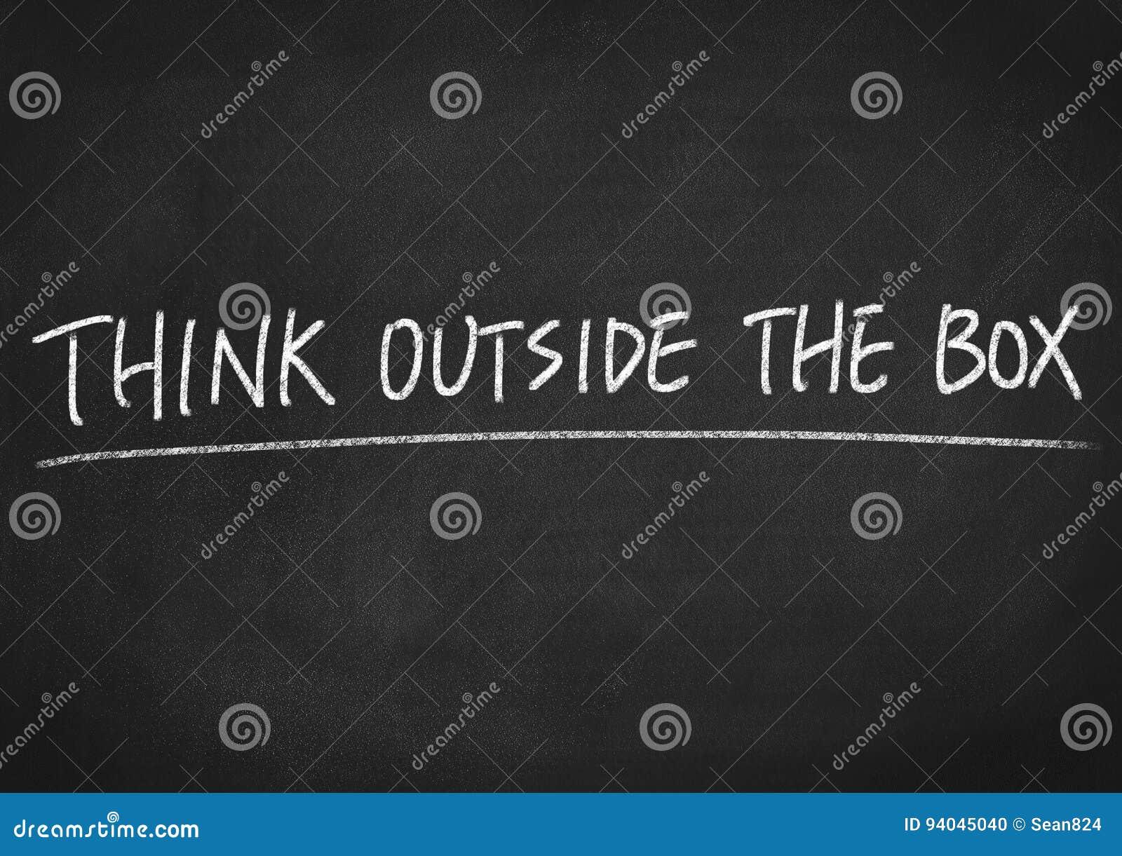 Denken Sie außerhalb des Kastens