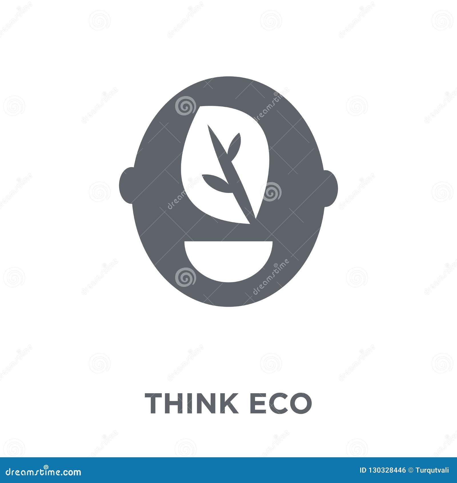 Denken Sie eco Ikone von der Ökologiesammlung