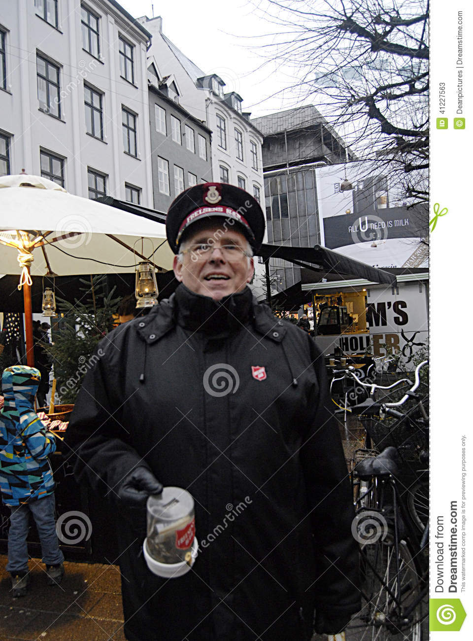 Denmarkdonation For Salvation Army Editorial Stock Photo Image Of