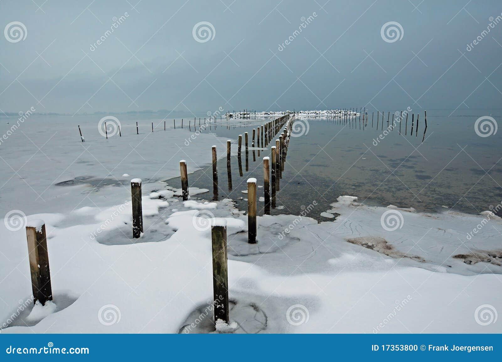 Denmark Kolding krajobrazowa pobliski sjoelund zima