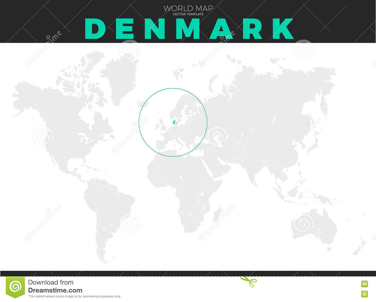 Denmark Location Map stock vector. Illustration of icon ...