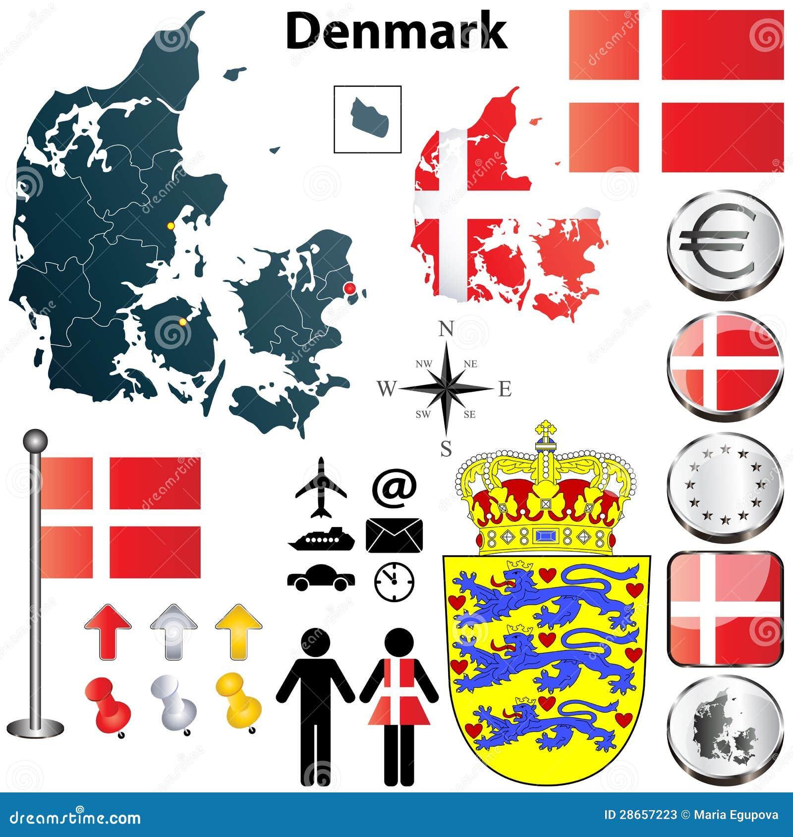denmark map stock photos image 28657223