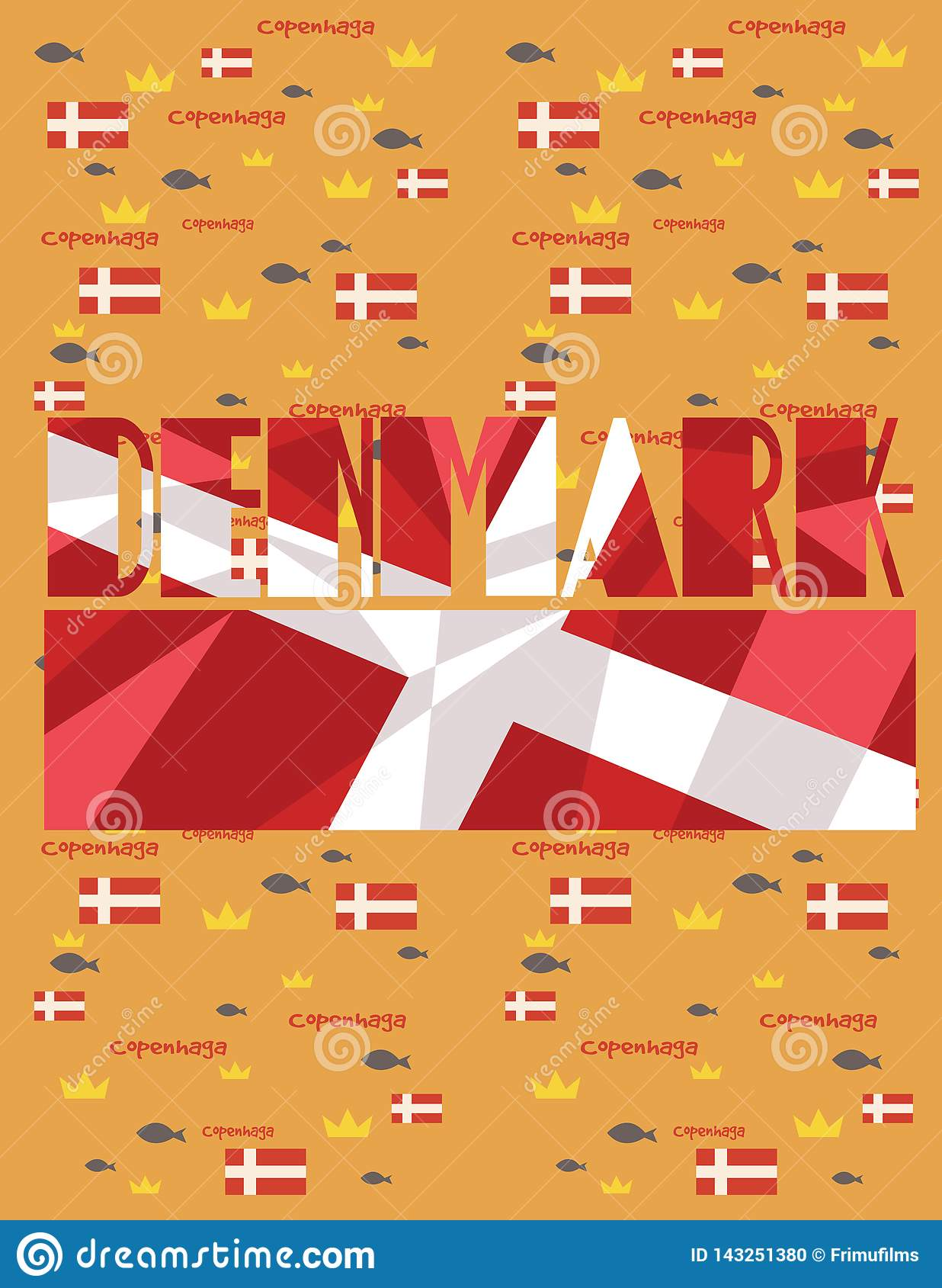 Adreano denmark map country infographics stock illustration