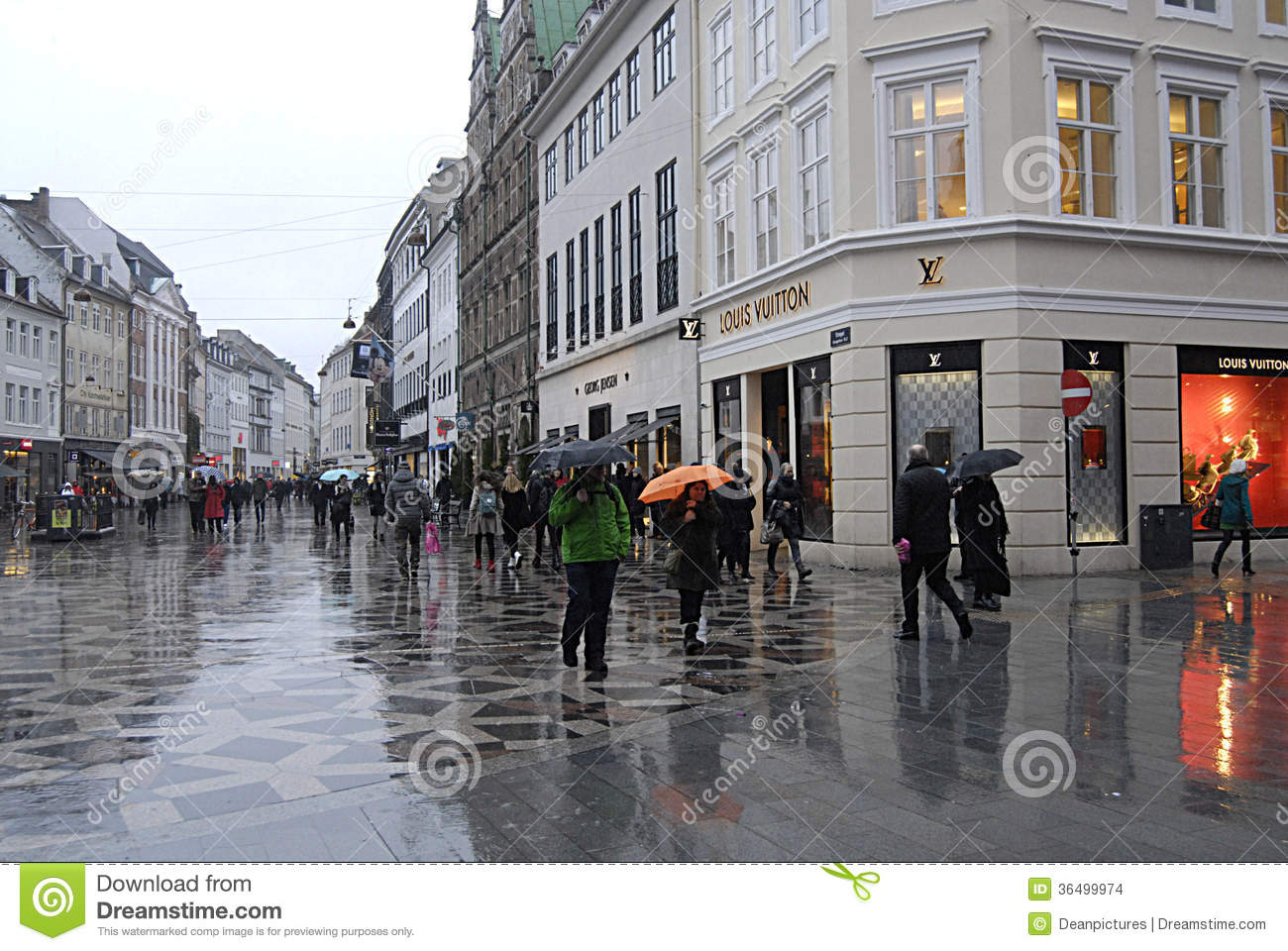 DENMARK_TRAVELERS IN SHOPPER IN RAINY WEATHER Editorial Stock Image - Image: 36499974