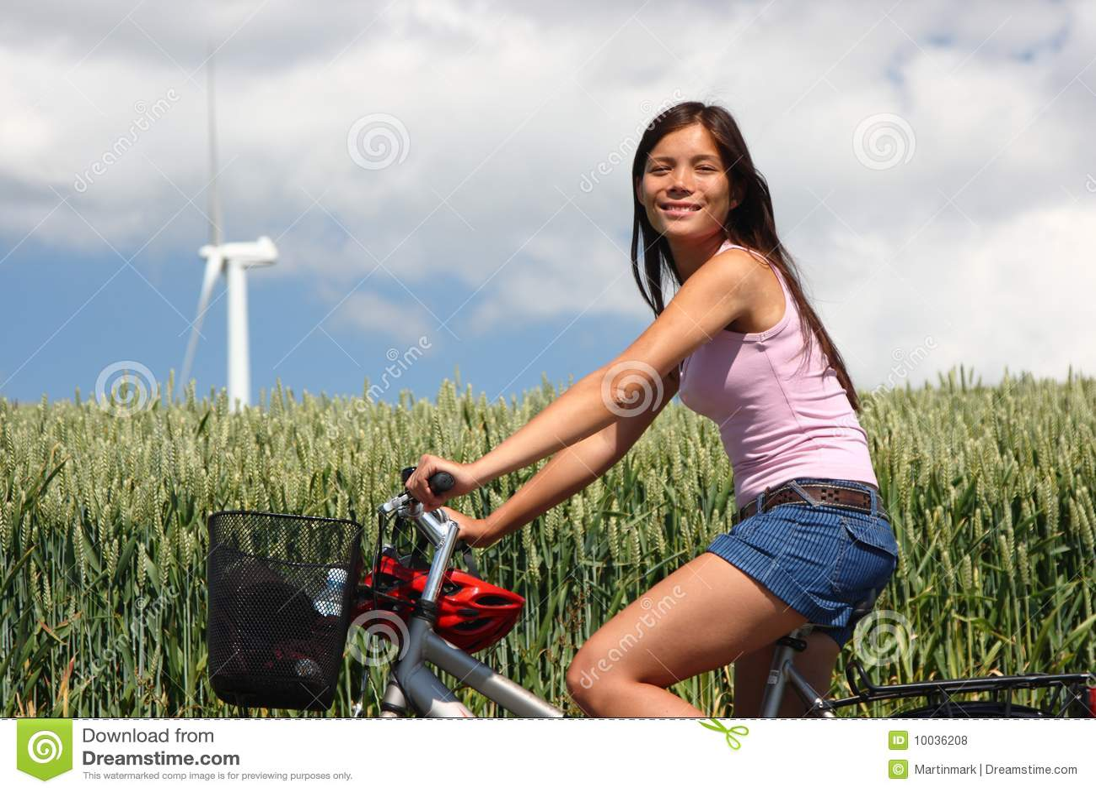 Denmark Woman Biking Royalty Free Stock Photos Image