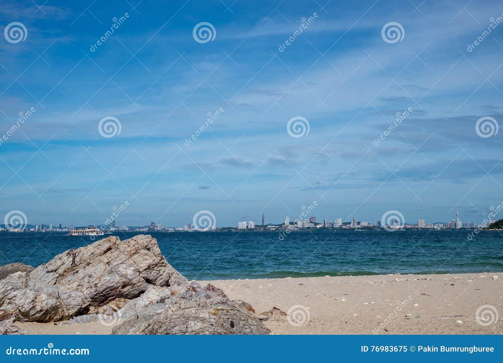 Denna głąbika Pattaya plaża, Tajlandia