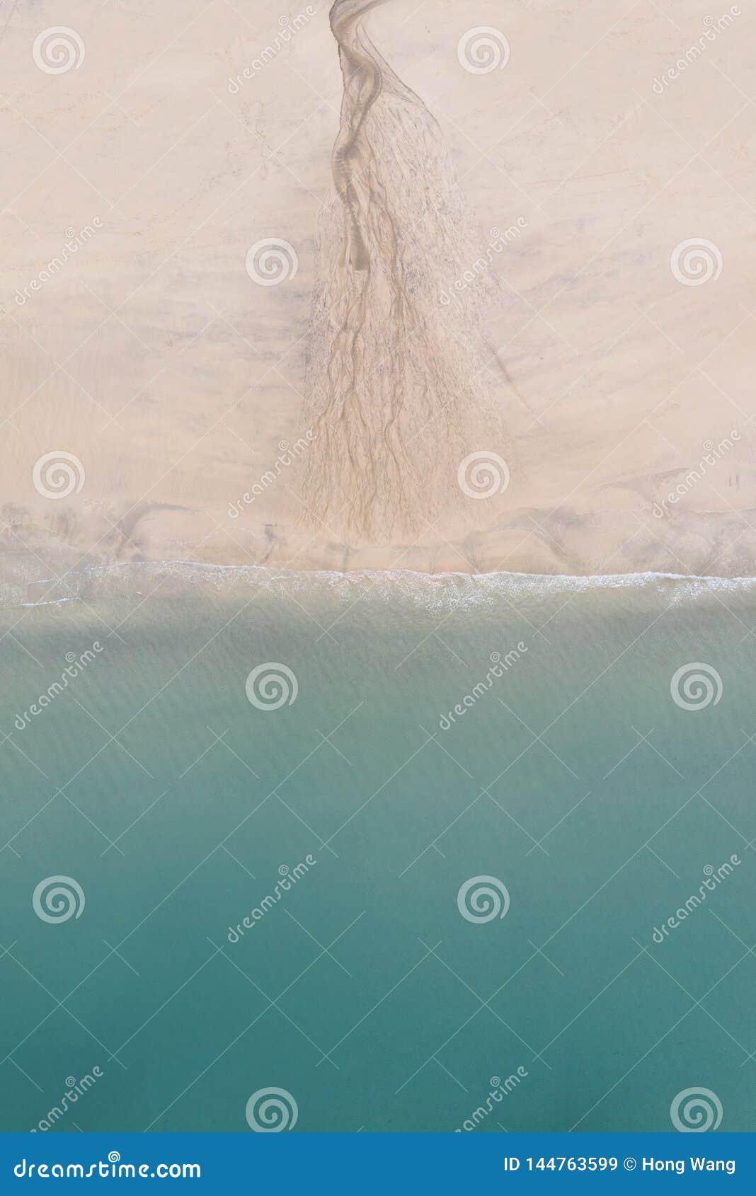 Denna zieleń różowić sól kolorów abstrakcjonistycznego falistego gradient Piasek fale, halnych fal skutek