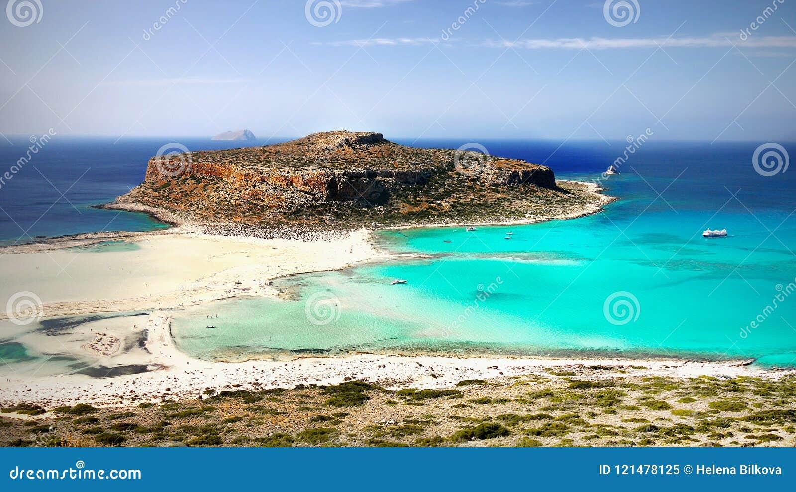 Denne falezy, wybrzeże krajobrazu plaże, Greckie wyspy, Crete,