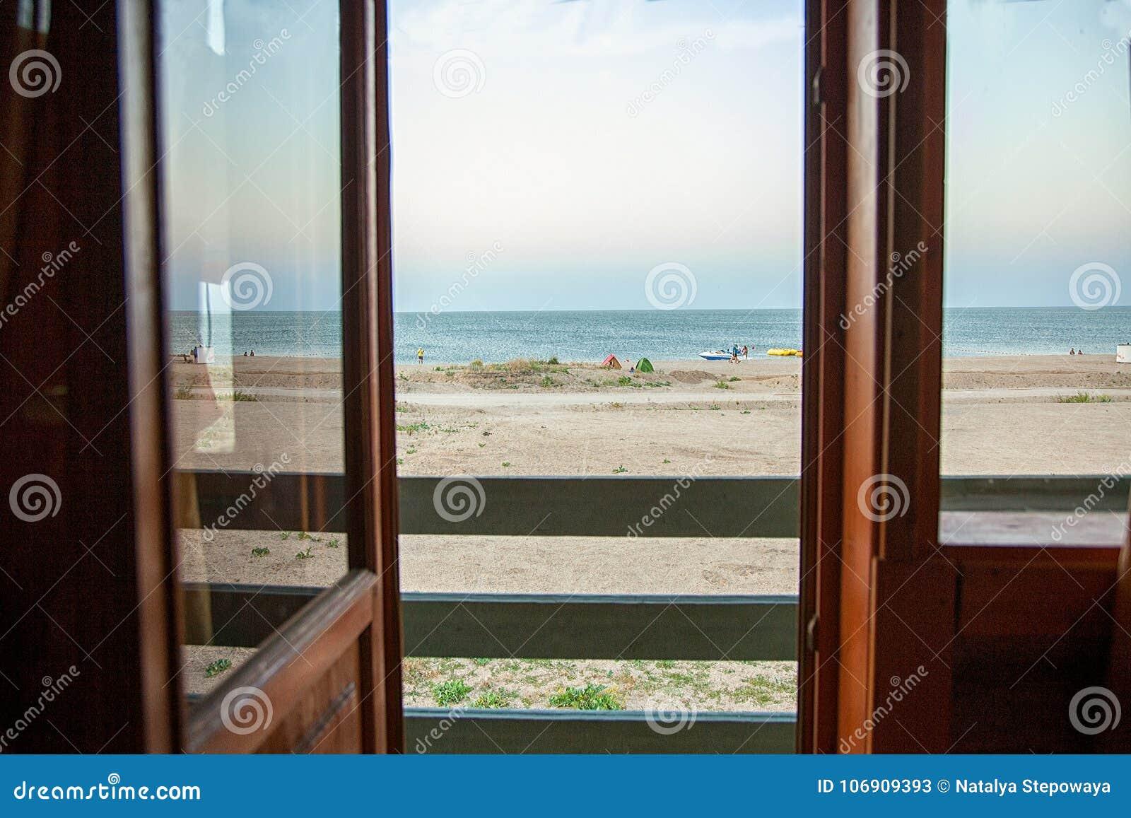 Denny widok od okno
