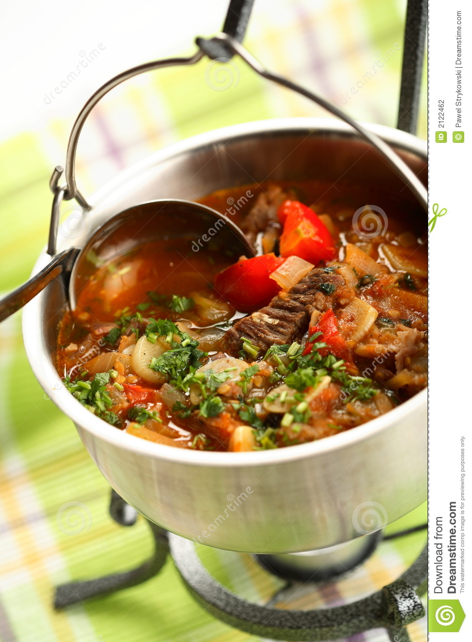 Densest soup with meat