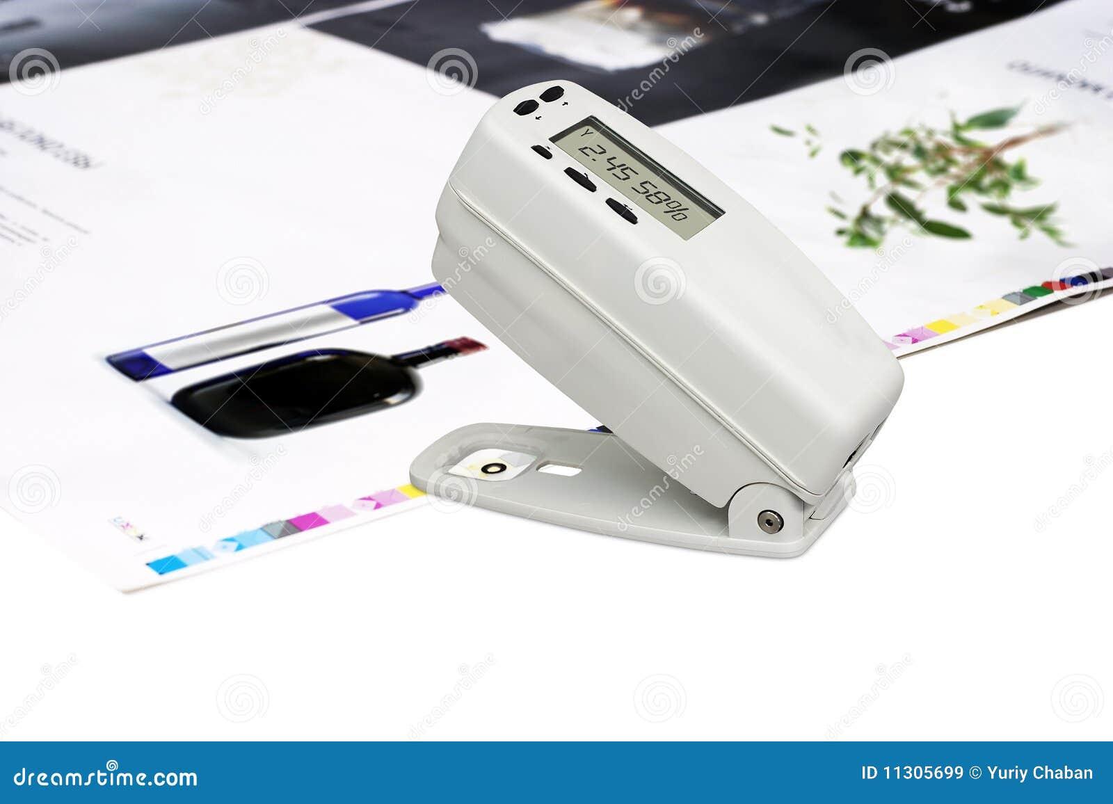 Densitometer auf Versatz gedrucktem Blatt