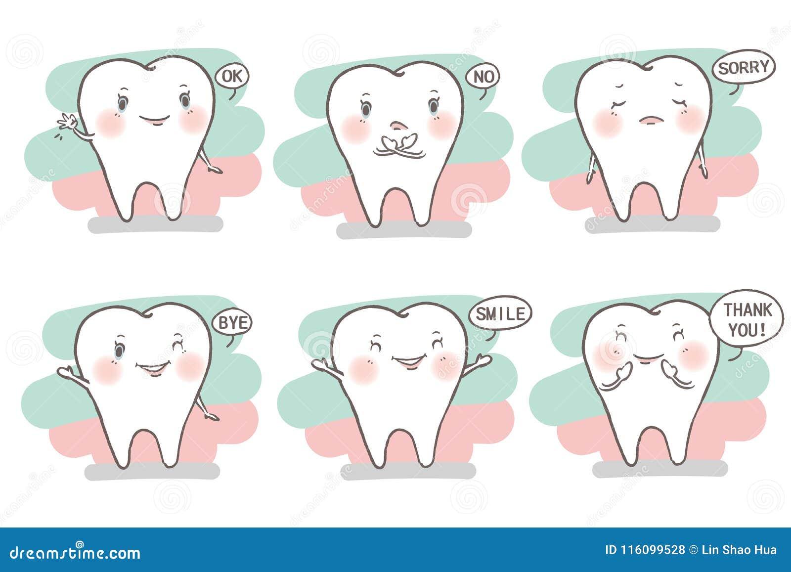 Dent avec émotion différente