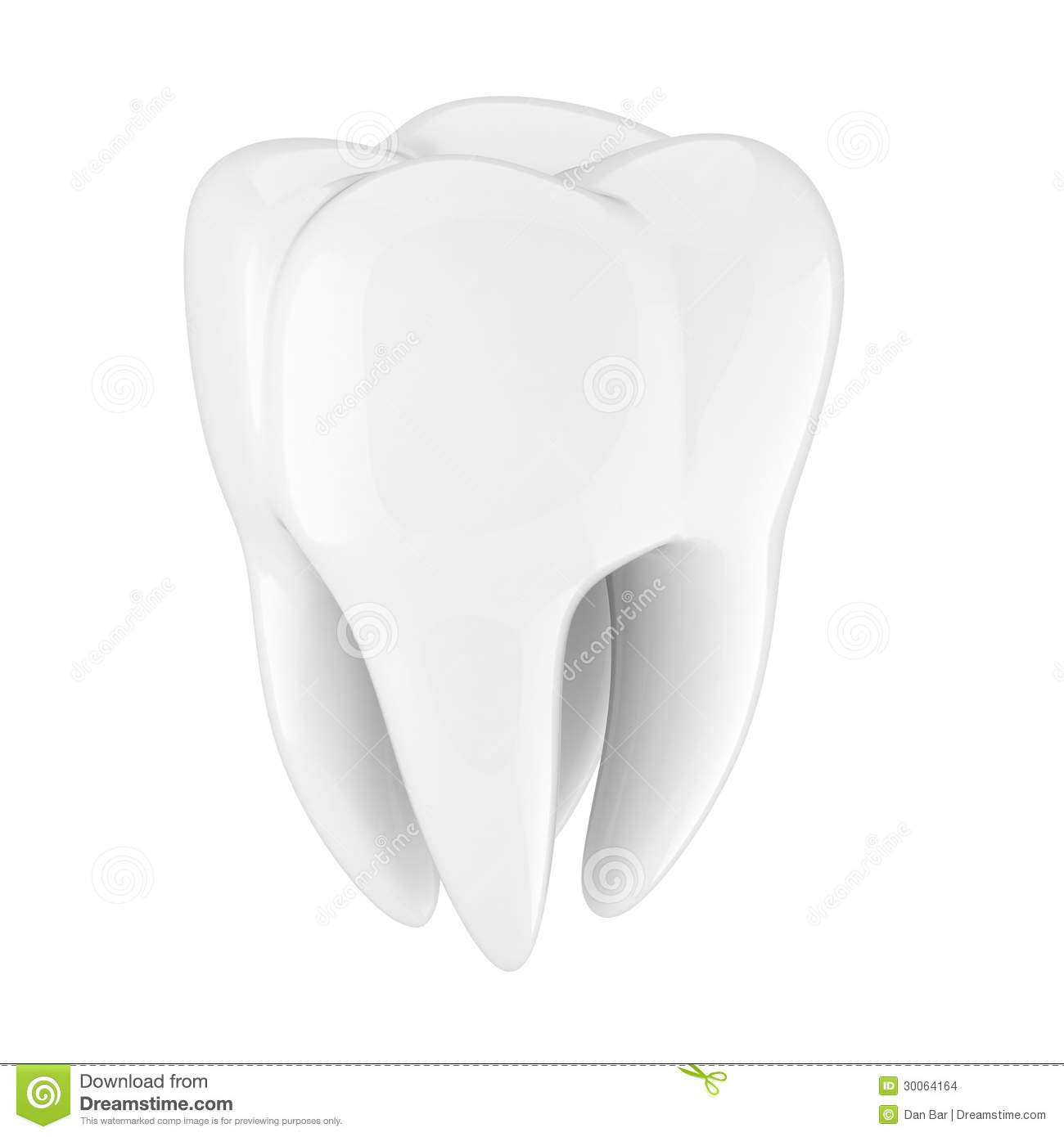 Dent 3d illustration stock illustration du isolement - Dessin de dent ...