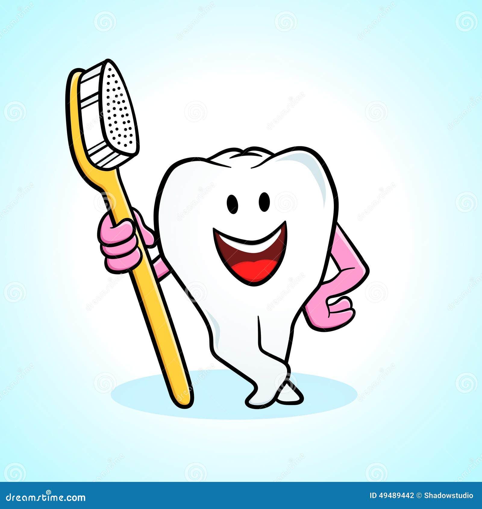 Dent et brosse dents de dessin anim illustration de - Dessin de dent ...