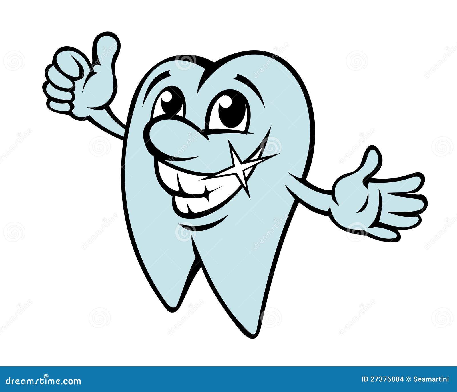 Dent heureuse de dessin anim images stock image 27376884 - Dessin de dent ...