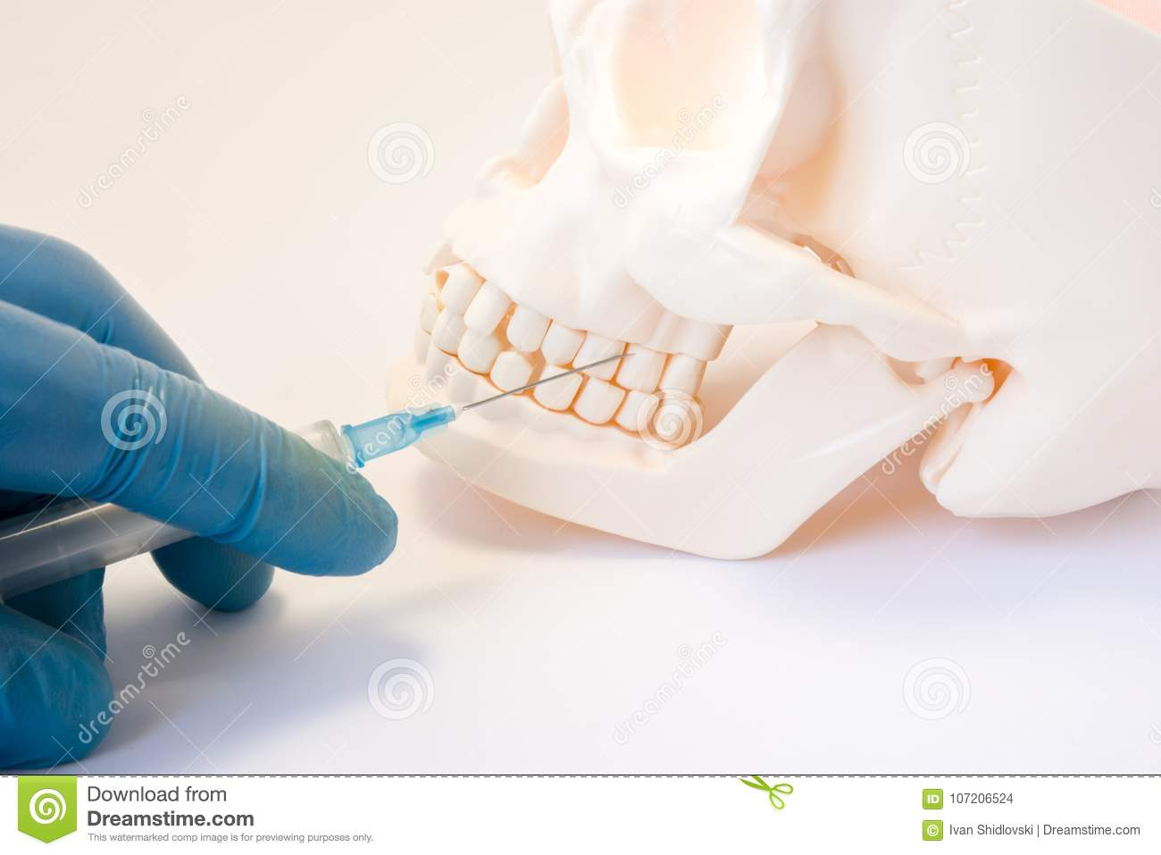 Dental Anesthesia Or Puncture Cyst Tooth Concept Photo  Doctor