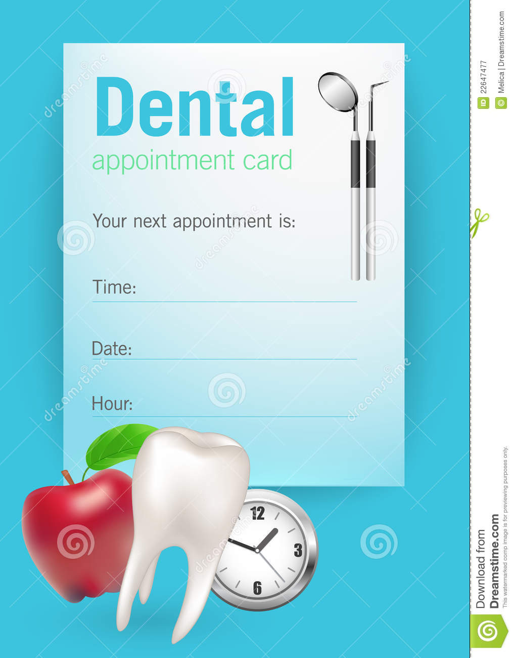 medical appointment card template free - dental appointment card royalty free stock photography