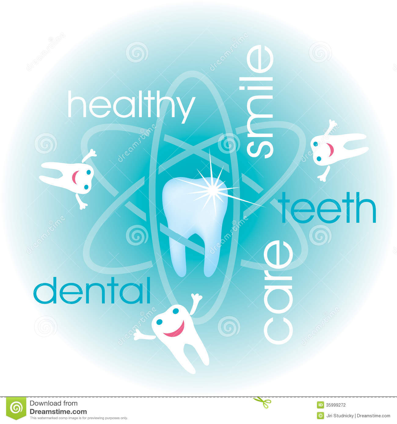 Dental Care Background Stock Vector Illustration Of Vector 35999272