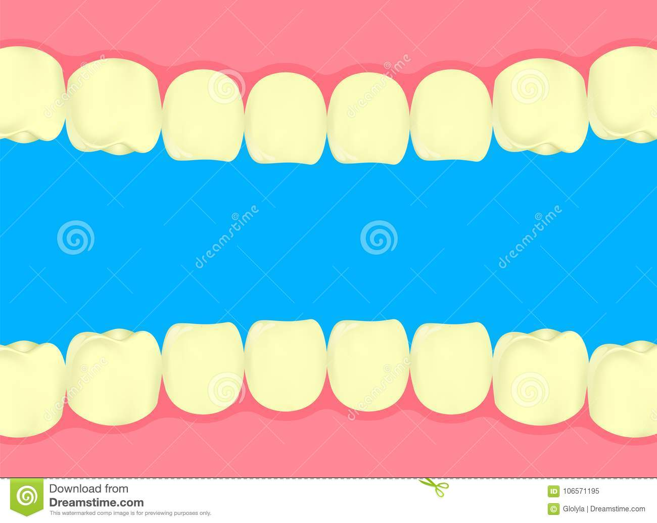 Yellow Teeth In Human Mouth Stock Vector Illustration Of Decay