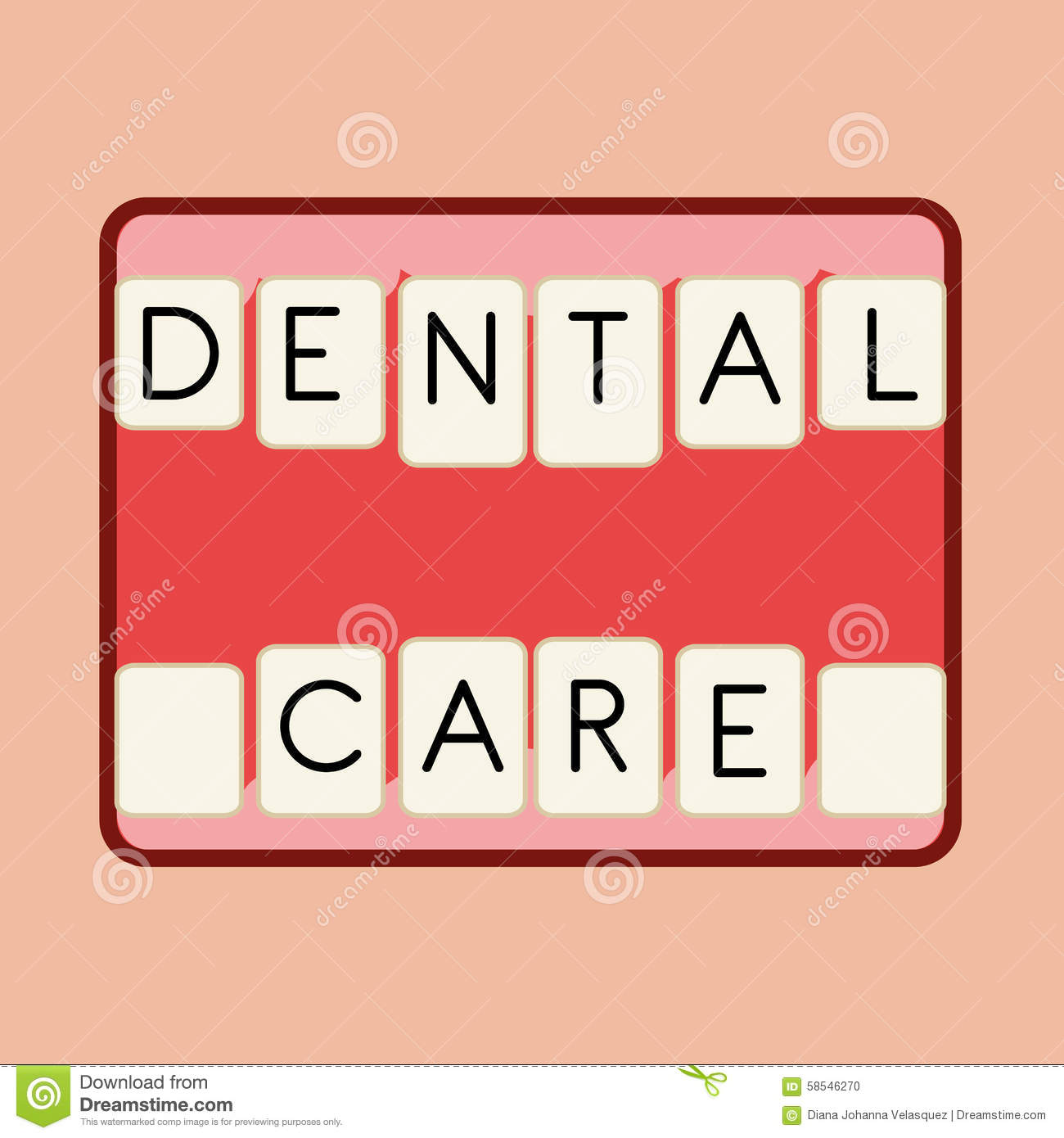 Dental Care Design Stock Vector Image 58546270
