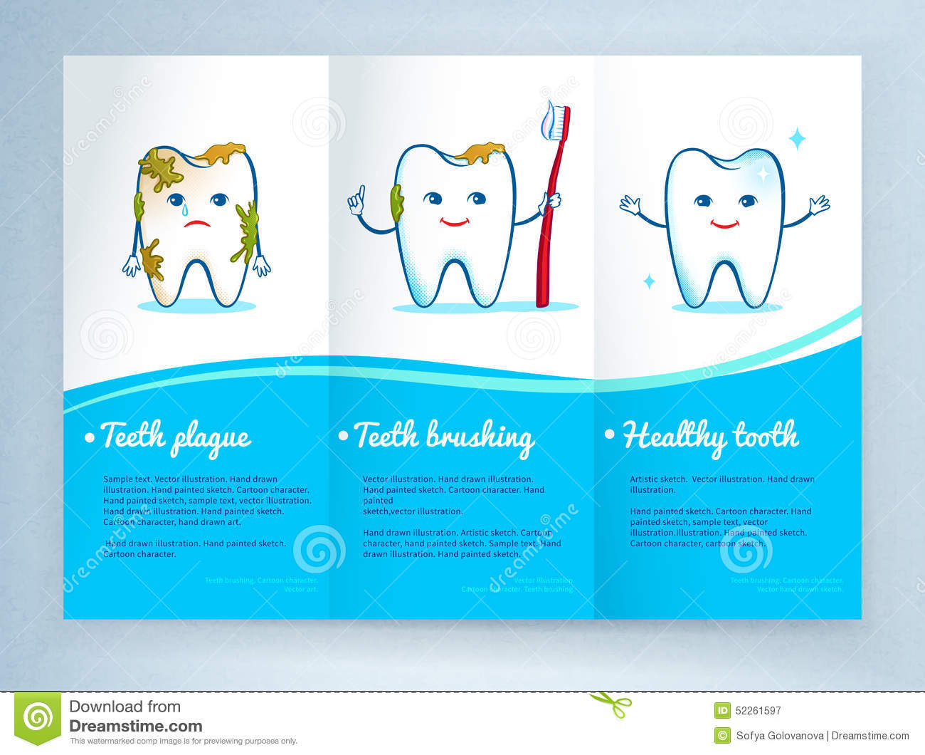 dental care leaflet design stock vector image 52261597 tooth clip art free tooth clipart line
