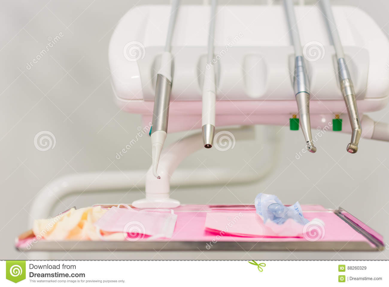 Dental Chair Instruments And Drills Stock Image - Image of polisher