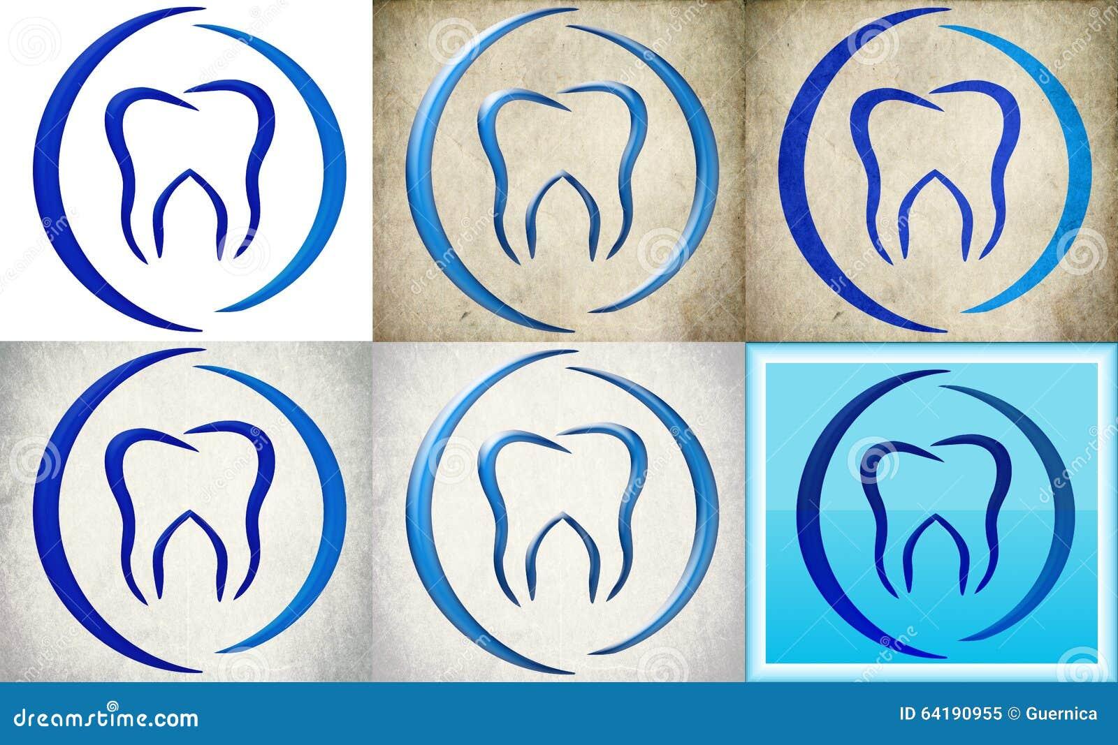 Dental Clinic Logo With Retro Background Stock Illustration ...