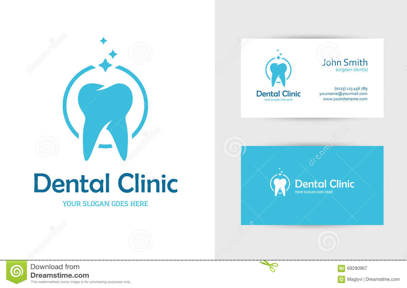 dental tooth logo cartoon vector 33760335. Black Bedroom Furniture Sets. Home Design Ideas