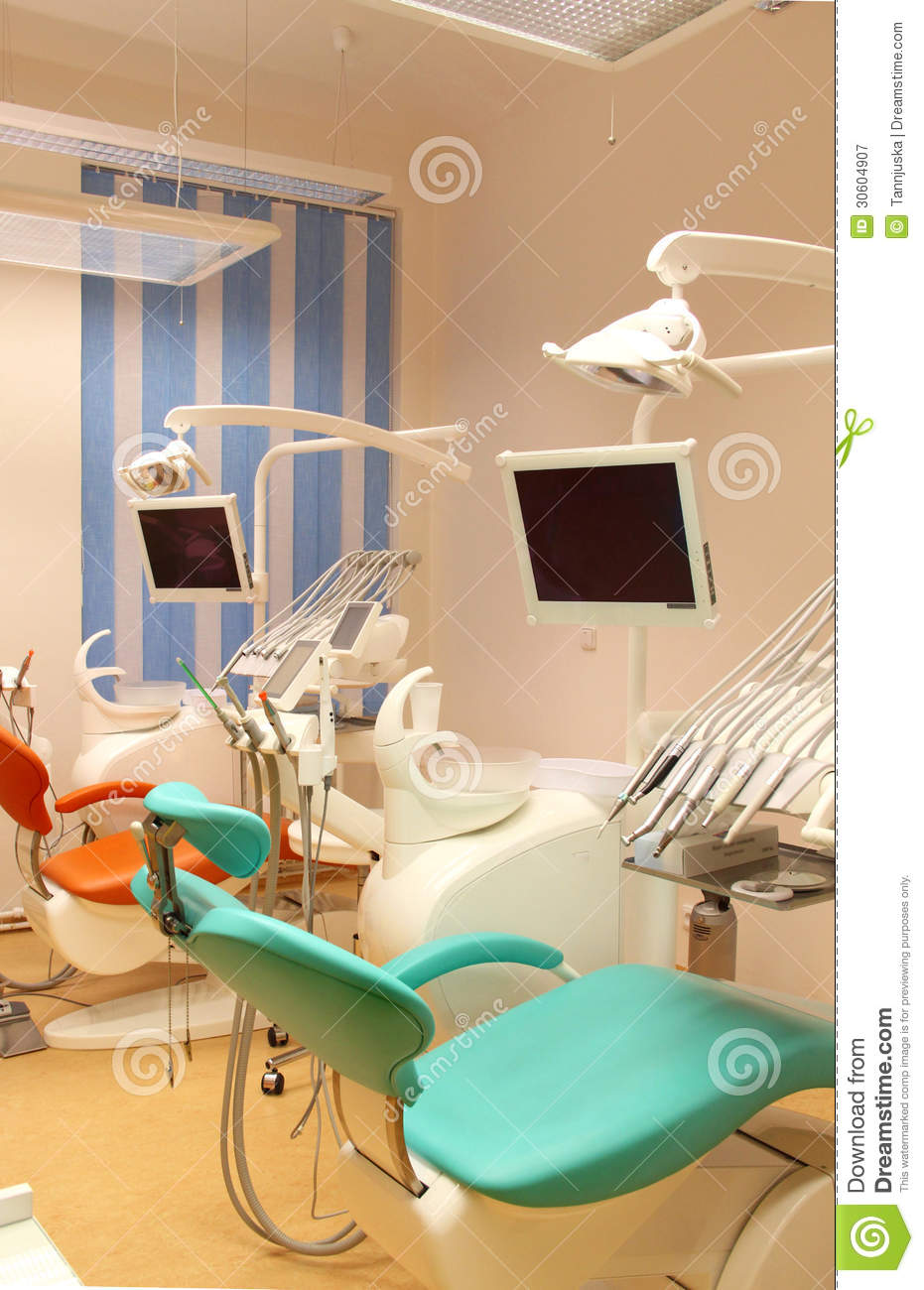 Hospital Procedure Room: Dental Clinic Office With Equipment Royalty Free Stock