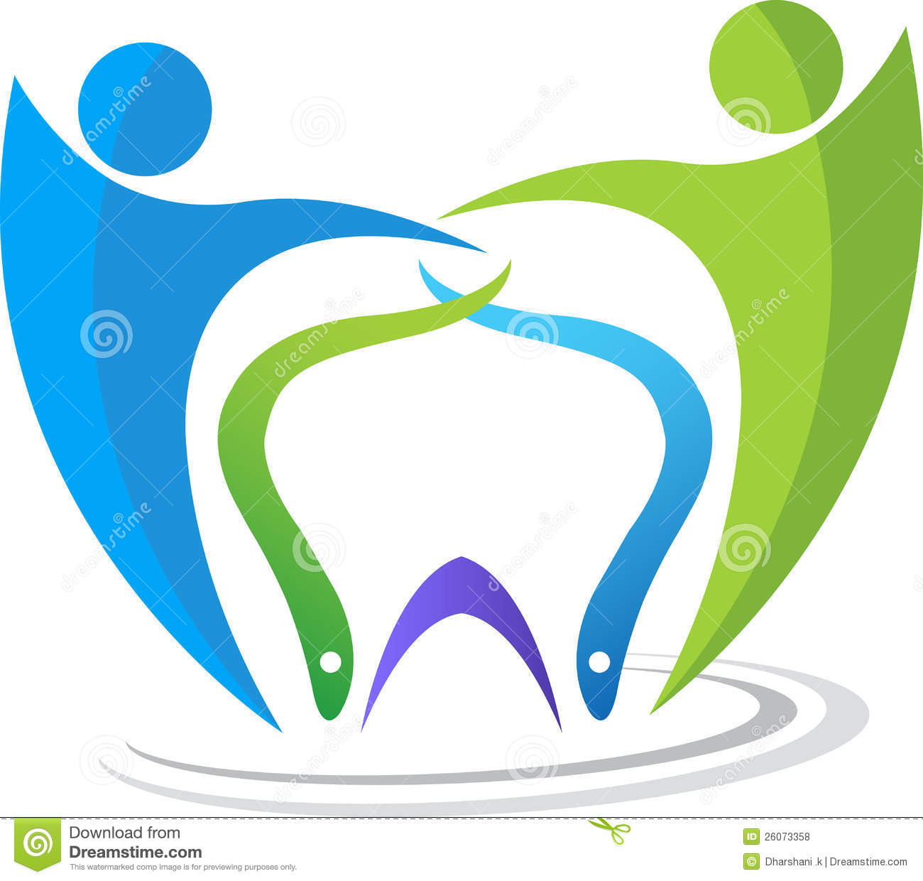 Dental Couple Logo Stock Photos - Image: 25889123