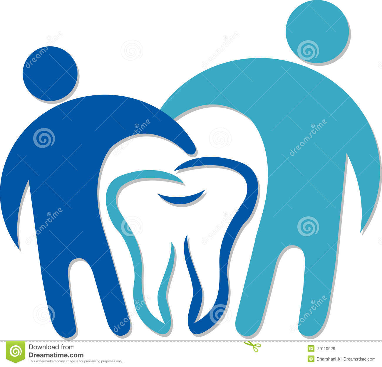 Dental Couple Logo Royalty Free Stock Images - Image: 27010929