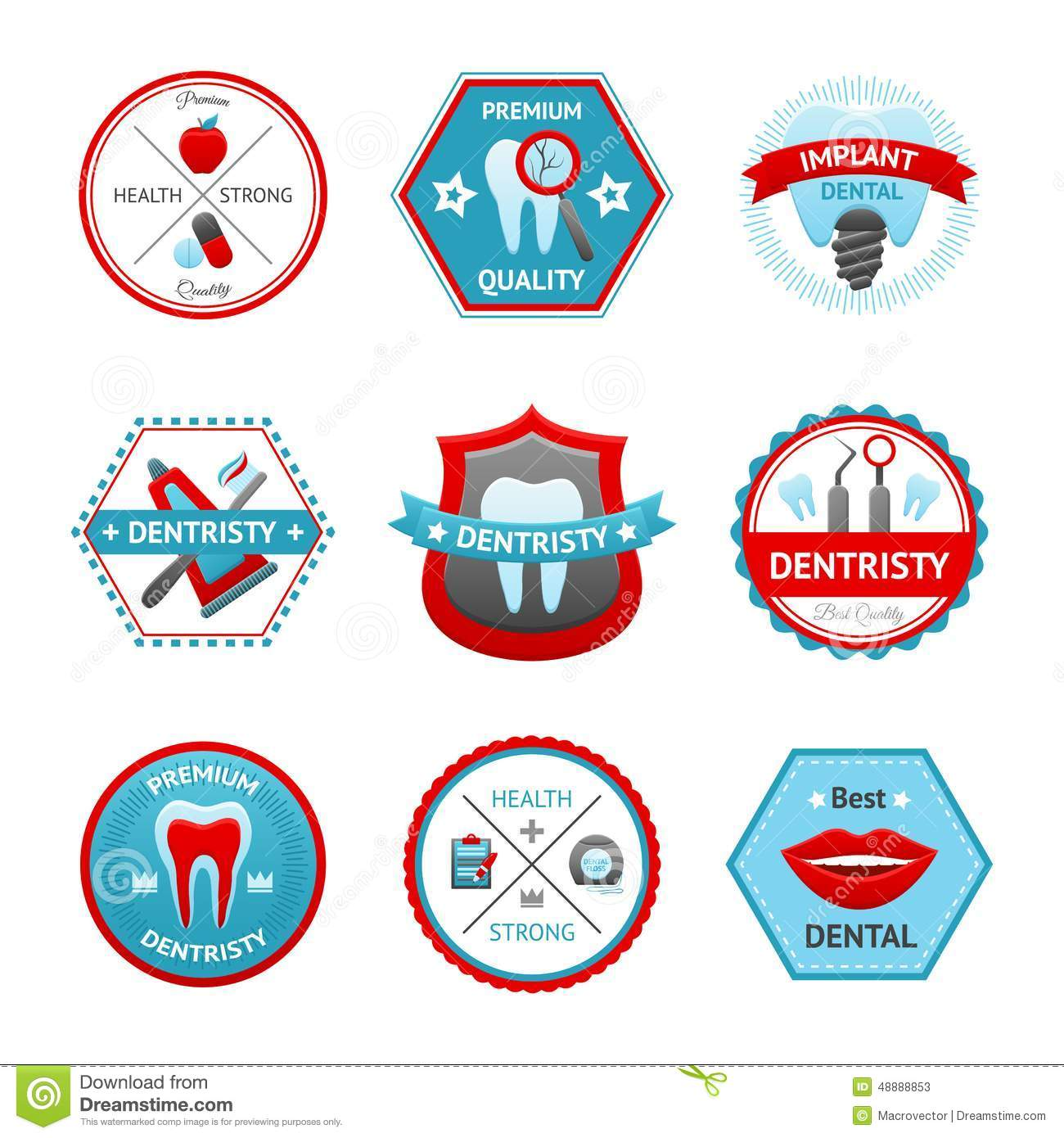 Dental Emblem Set Stock Photos, Images, & Pictures - 188 Images