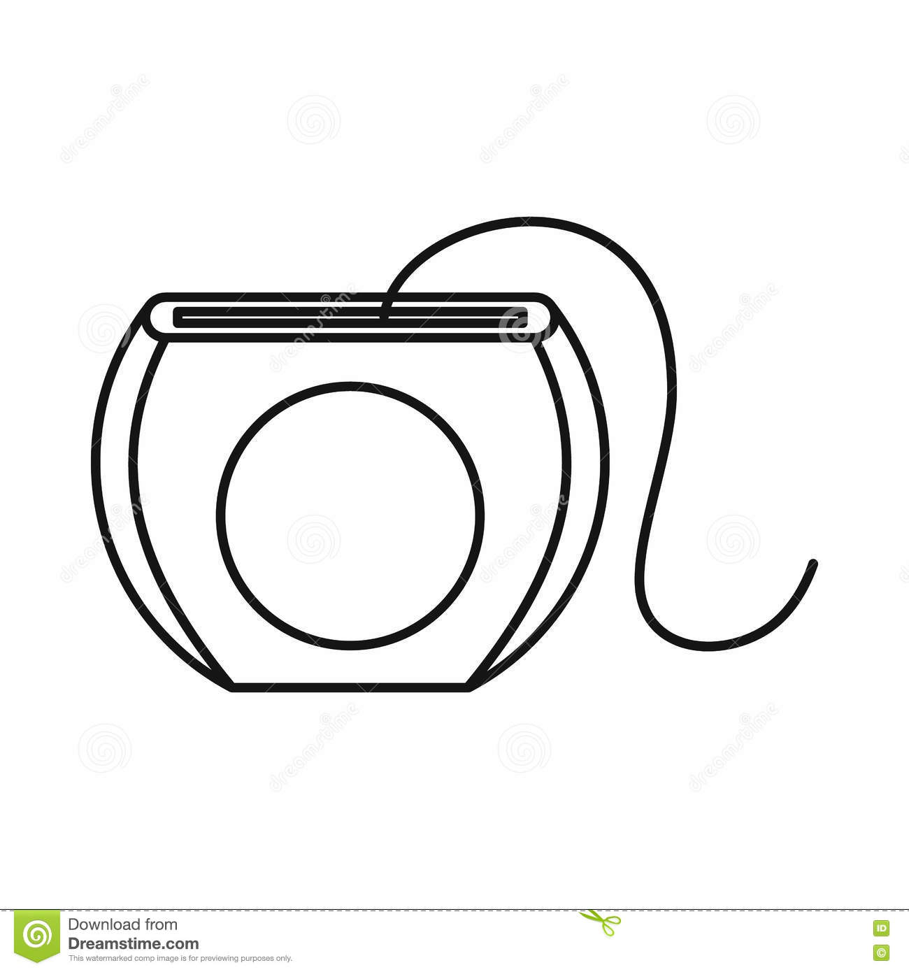 Dental Floss Icon Outline Style