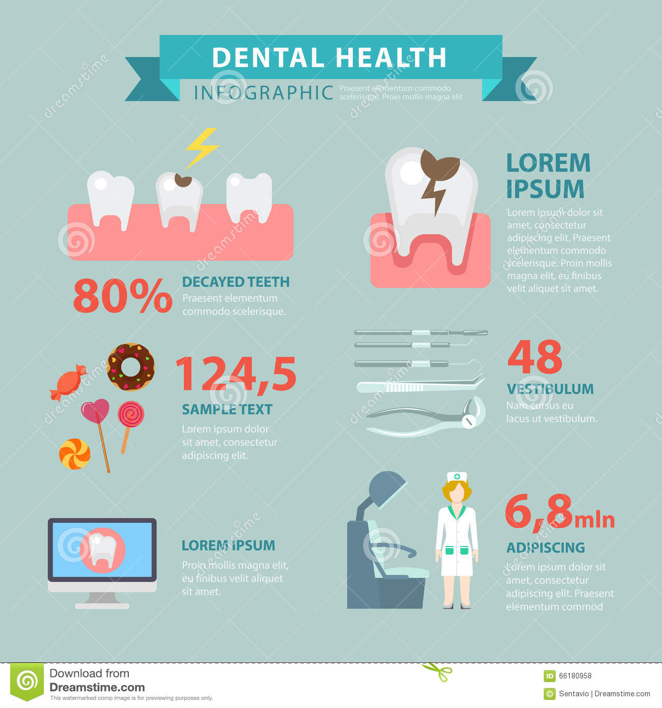dental-health-flat-vector-infographic-to