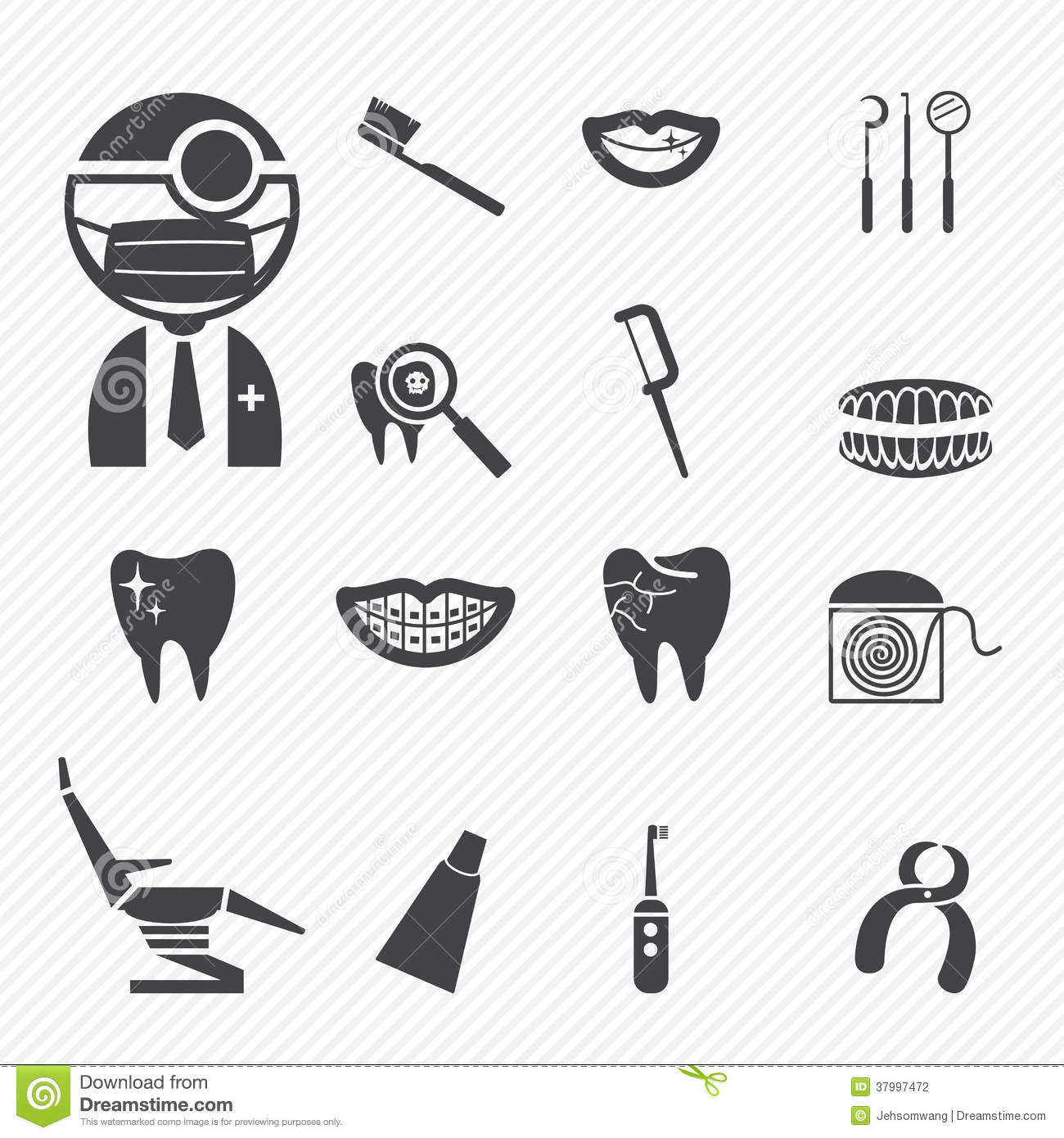Dental Icons Stock Photography - Image: 37997472