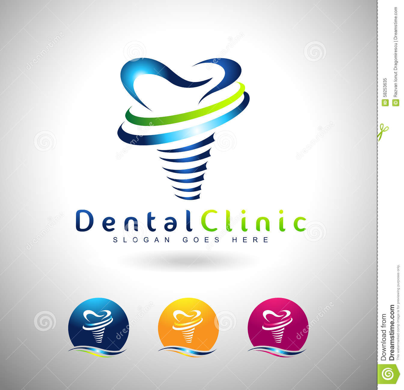 Dental Implants Logo stock vector. Image of symbol ...