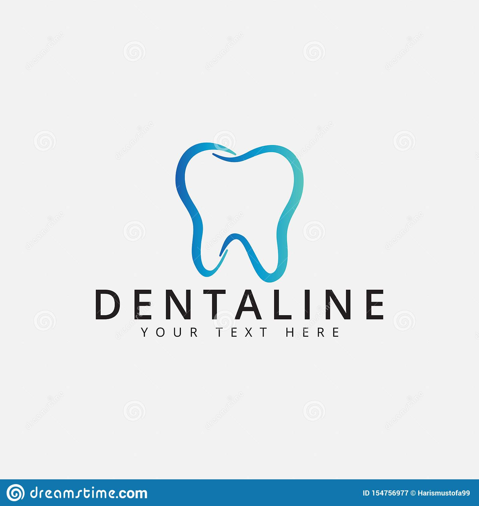 Dental logo design template vector isolated illustration